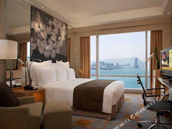 香港萬麗海景酒店(Renaissance Harbour View Hotel Hong Kong)露台海港景觀客房