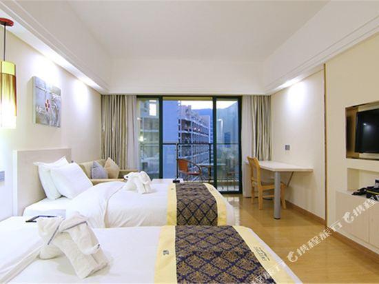 深圳斯維登度假公寓(東部華庭大梅沙)高級雙床房(無窗)