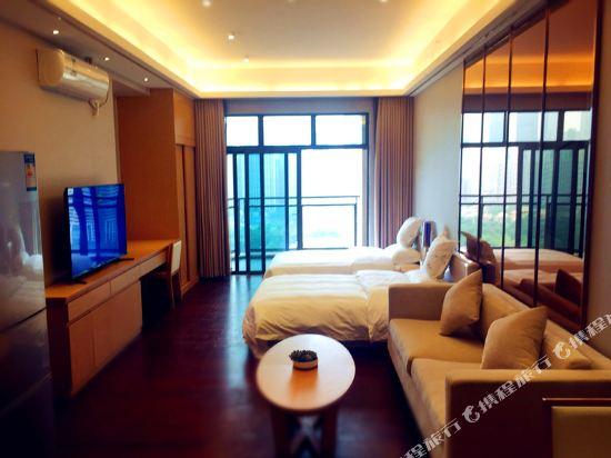伊蓮·薩維爾國際酒店公寓(廣州珠江新城店)園景豪華雙床房