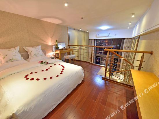 伊蓮·薩維爾國際酒店公寓(廣州珠江新城店)園景Loft復式雙床間
