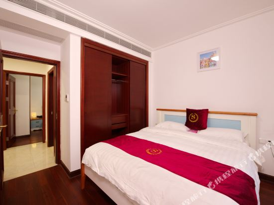 泰萊尚寓度假公寓(珠海海洋王國口岸店)(Tailai Shangyu Holiday Apartment (Zhuhai Ocean Kingdom Port))地中海風情大床二房套房