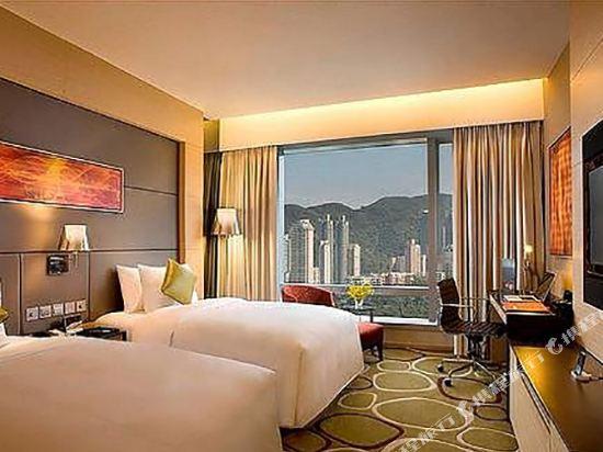 香港銅鑼灣皇冠假日酒店(Crowne Plaza Hong Kong Causeway Bay)皇冠連通四人房