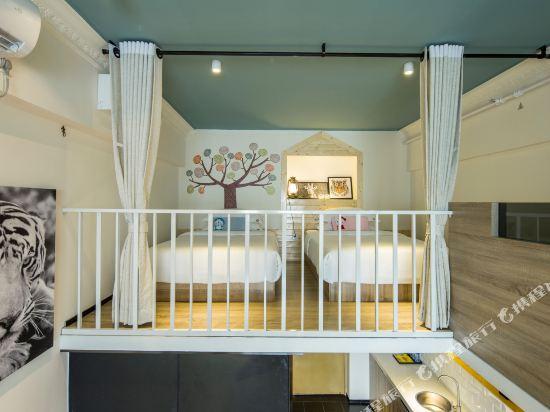 ahotel服務式公寓(廣州漢溪長隆地鐵站店)(A Hotel Serviced Apartment (Guangzhou Hanxi Changlong Metro Station))家庭複式鞦韆套房