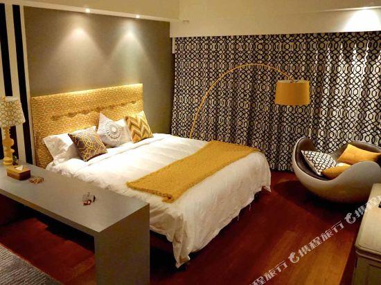 XY酒店公寓(北京金茂府店)(XY Apartment Hotel (Beijing Jinmaofu))智能藝術套房