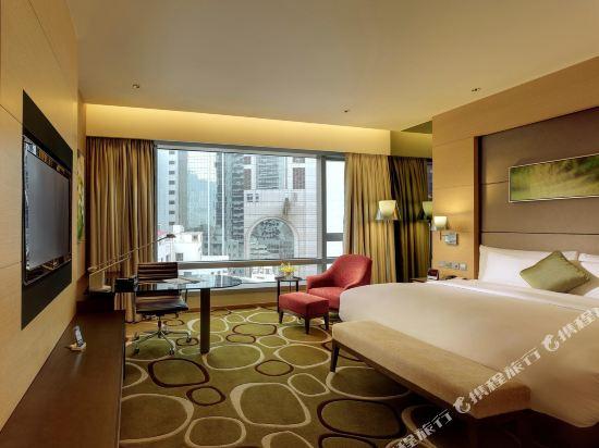 香港銅鑼灣皇冠假日酒店(Crowne Plaza Hong Kong Causeway Bay)高級房-帶加床