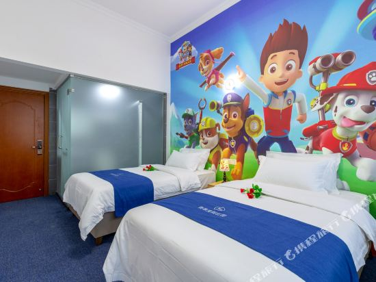 Q加·泰萊童趣主題公寓(珠海橫琴海洋王國店)(Q+ Tailai Tongqu Theme Apartment (Zhuhai Chimelong Ocean Kingdom))度假莊園主題雙床房