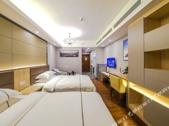 佰合精選國際度假公寓(北京路方圓時光店)(Baihe Selected International Holiday Apartment (Beijing Road Fangyuan Shiguang))城景豪華雙床房