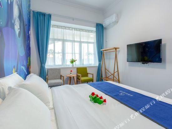 Q加·泰萊童趣主題公寓(珠海橫琴海洋王國店)(Q+ Tailai Tongqu Theme Apartment (Zhuhai Chimelong Ocean Kingdom))度假莊園主題大床房
