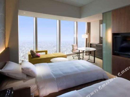 大阪萬豪都酒店(Osaka Marriott Miyako Hotel)城景高級雙床房