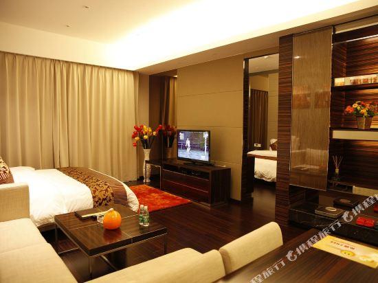 嘻哈商務公寓(廣州琶洲保利世貿店)(Hiphop Business Apartment (Guangzhou Pazhou Baoli Shimao))豪華觀景行政套房