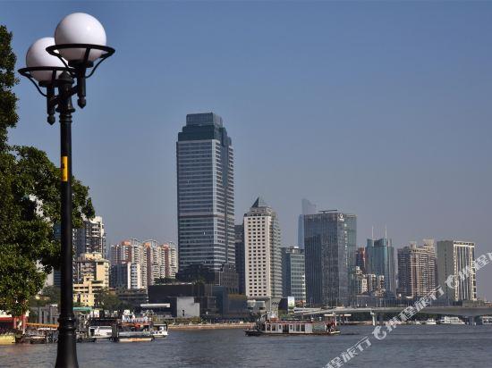 港潤寓上江灣公寓(廣州沿江天字碼頭店)(原江灣大酒店)(Gangrun Yushang Jiangwan Apartment (Guangzhou Yanjiang Tianzi Wharf))豪華江景雙床房
