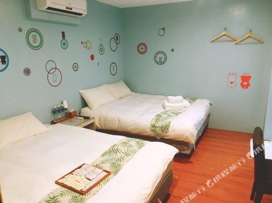 台北西門町旅行箱MiniBox旅店(Minibox Hotel)四人房