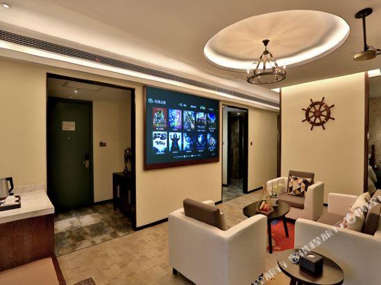 美豪酒店(常州恐龍園旗艦店)(Mehood Hotel (Changzhou Dinosaur Park Flagship))瑪雅灣3D影院套房