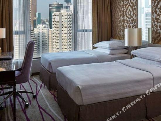 香港灣仔帝盛酒店(Dorsett Wanchai)銅鑼灣市景超豪華連通雙人或雙床間 - 帶免費Wi-Fi