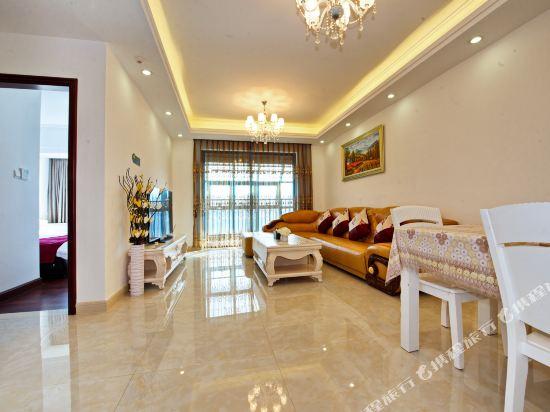 泰萊尚寓度假公寓(珠海海洋王國口岸店)(Tailai Shangyu Holiday Apartment (Zhuhai Ocean Kingdom Port))歐式雙大床二房二廳套房