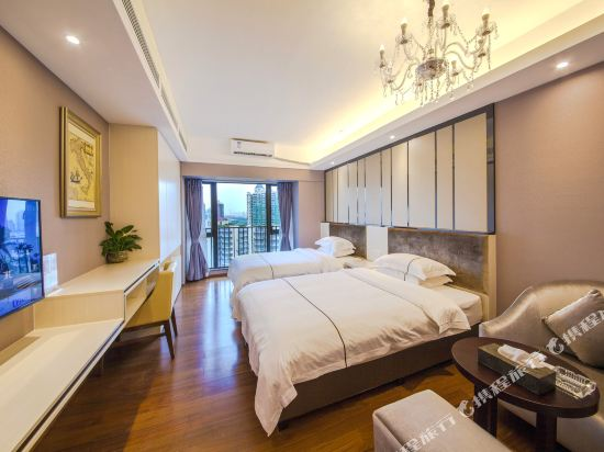 佰合精選國際度假公寓(北京路方圓時光店)(Baihe Selected International Holiday Apartment (Beijing Road Fangyuan Shiguang))江景豪華雙床房