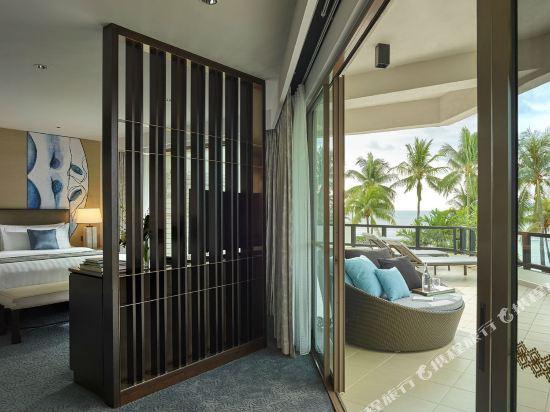 哥打京那巴魯香格里拉丹絨亞路酒店(Shangri-La's Tanjung Aru Resort & Spa Kota Kinabalu)丹絨樓豪華海景套房