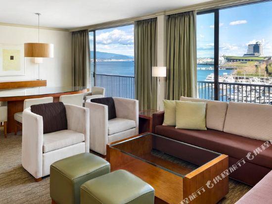 海柏温哥華威斯汀酒店(The Westin Bayshore Vancouver)行政特大床一卧套房(帶沙發床)