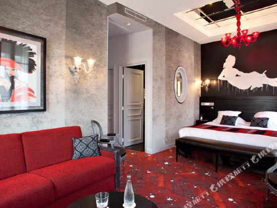 巴黎香榭麗舍安珀酒店(Maison Albar Hôtel Paris Champs Elysées)小型套房-帶沙發床
