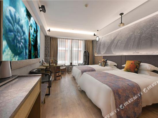 美豪麗致酒店(廣州五羊新城店)3D影院內景花園雙床房