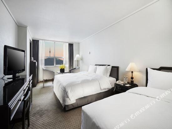 總統酒店(Hotel President)家庭雙床房