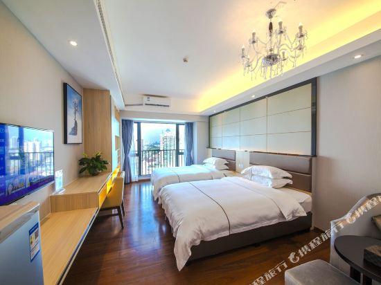 佰合精選國際度假公寓(北京路方圓時光店)(Baihe Selected International Holiday Apartment (Beijing Road Fangyuan Shiguang))高級雙床房