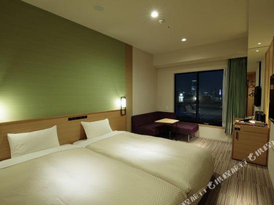 大阪難波光芒酒店(Candeo Hotels Osaka Namba)城景高級超大雙床房