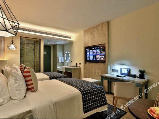 美豪酒店(常州恐龍園旗艦店)(Mehood Hotel (Changzhou Dinosaur Park Flagship))英倫風情雙床房