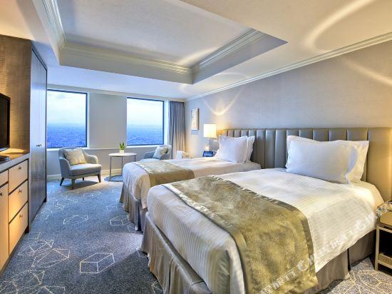 名古屋萬豪酒店(Nagoya Marriott Associa Hotel)高樓層標準雙床房