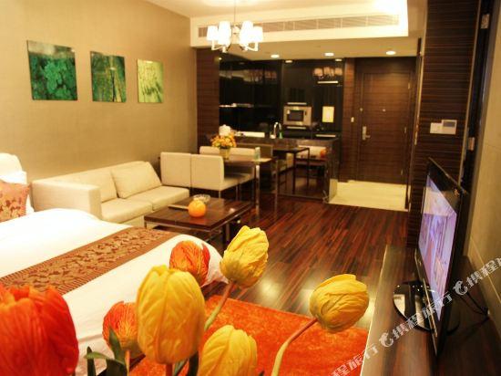 嘻哈商務公寓(廣州琶洲保利世貿店)(Hiphop Business Apartment (Guangzhou Pazhou Baoli Shimao))豪華景觀行政雙床套房