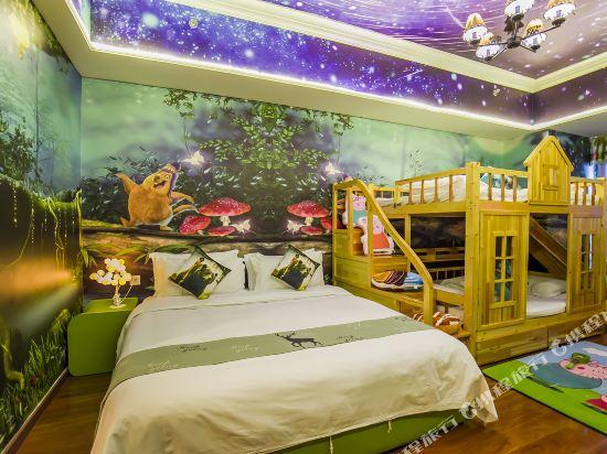 夢幻樂園親子主題公寓(廣州萬達廣場店)(Dreamland Family Theme Apartment (Guangzhou Wanda Plaza))親子主題滑梯三床房