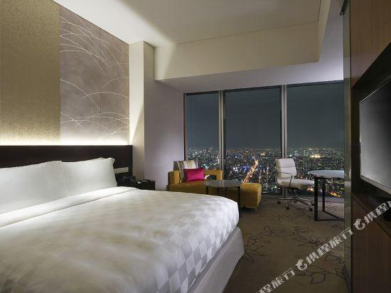 大阪萬豪都酒店(Osaka Marriott Miyako Hotel)俱樂部高級大號床房