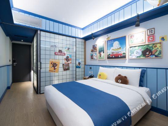 首爾明洞喜普樂吉酒店(Sotetsu Hotels The SPLAISIR Seoul Myeongdong)Line Friends大床房(布朗熊&可妮兔)