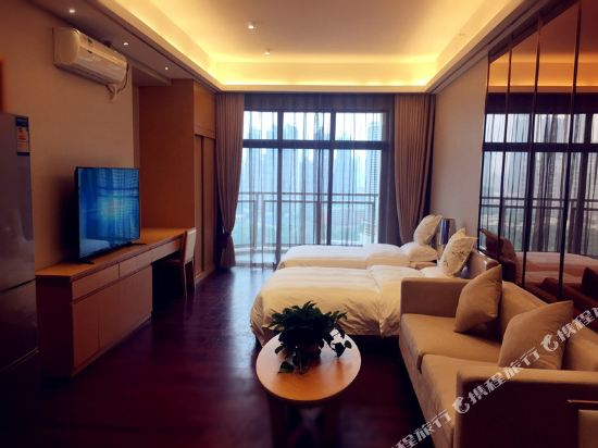 伊蓮·薩維爾國際酒店公寓(廣州珠江新城店)(ELAINE SAVILE HOTEL)園景豪華雙床房
