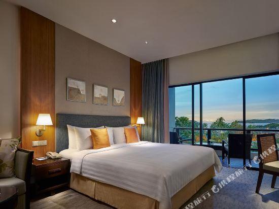哥打京那巴魯香格里拉丹絨亞路酒店(Shangri-La's Tanjung Aru Resort & Spa Kota Kinabalu)基納巴盧樓豪華海景客房