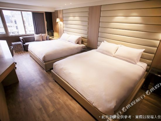 御宿商旅(高雄明華館)(Royal Group Hotel Ming Hua Branch)精緻四人房(2中床)