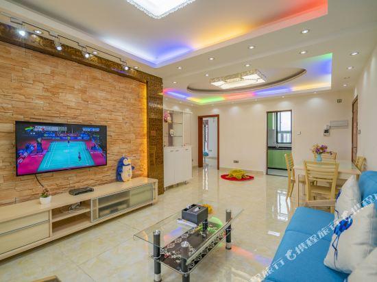 Q加·泰萊童趣主題公寓(珠海橫琴海洋王國店)(Q+ Tailai Tongqu Theme Apartment (Zhuhai Chimelong Ocean Kingdom))奢華觀澳三房二廳套房