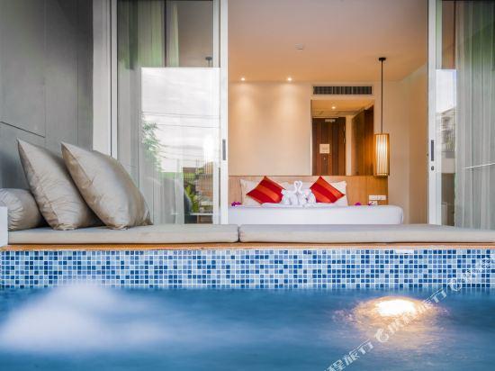 G華欣度假酒店及購物中心(G Hua Hin Resort & Mall)按摩浴缸泳池豪華房