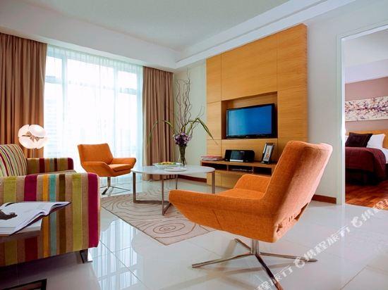 吉隆坡輝盛國際公寓(Fraser Place Kuala Lumpur)兩臥室豪華露台公寓