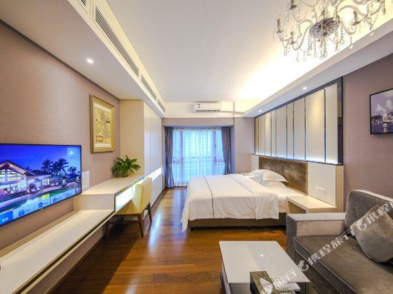 佰合精選國際度假公寓(北京路方圓時光店)(Baihe Selected International Holiday Apartment (Beijing Road Fangyuan Shiguang))江景豪華大床房