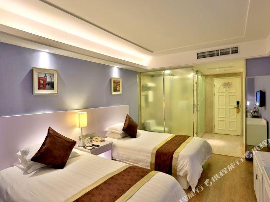杭州瑞萊克斯大酒店(Relax Hotel)精緻雙床房(無窗)