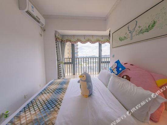 Q加·泰萊童趣主題公寓(珠海橫琴海洋王國店)(Q+ Tailai Tongqu Theme Apartment (Zhuhai Chimelong Ocean Kingdom))北歐豪華三房兩廳套房