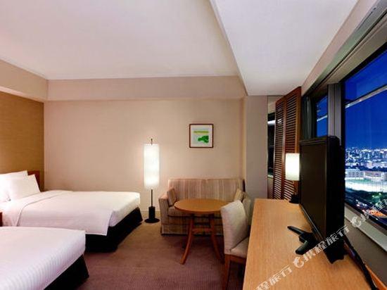 福岡海鷹希爾頓酒店(Hilton Fukuoka Sea Hawk)頂級雙床間