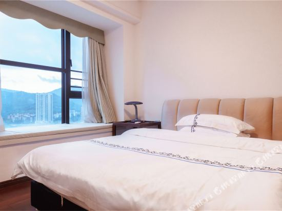 富米國際公寓(珠海華髮商都店)(Fumi Apartment Hotel (Zhuhai Huafa Mall))奢華全景大床套房