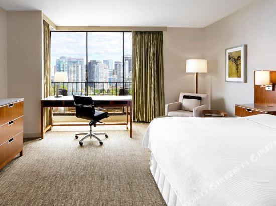 海柏温哥華威斯汀酒店(The Westin Bayshore Vancouver)大型全景特大床一卧套房塔樓(帶沙發床)