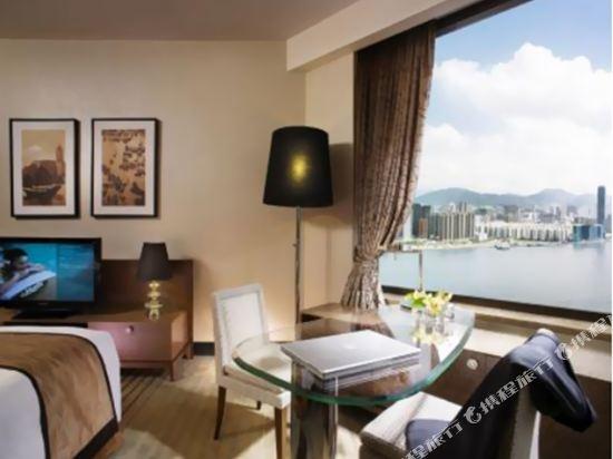 香港港島海逸君綽酒店(Harbour Grand Hong Kong)高級海景房-帶加床
