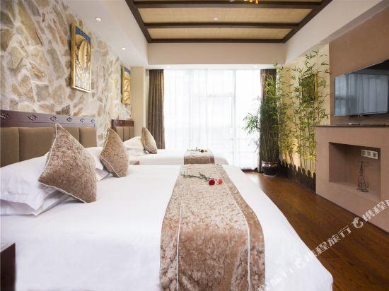 杭州西湖慢享主題酒店(West Lake Manxiang Theme Hotel)巴厘島花園親子房
