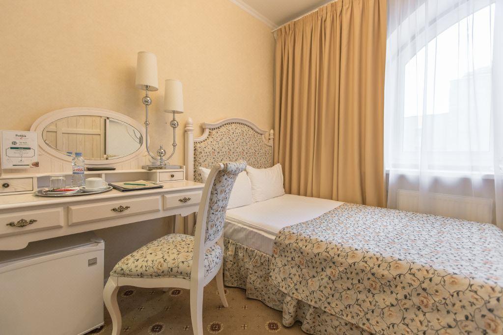모스크바 숙소 호텔 푸시킨 복층 객실 침대