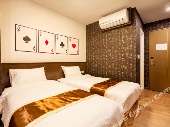台中撲克商旅(A Ace Hotel)經濟雙床房(無窗)