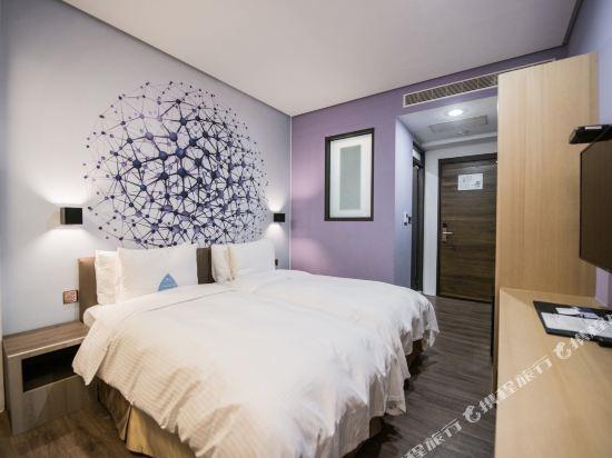 台中隱和旅(INNK Hotel)標準雙床房